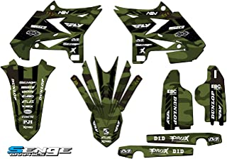 Senge Graphics kit compatible with Yamaha UFO RESTYLED 2005-2007 YZ 125/250 (2-Stroke), Apache Matte Green (MATTE FINISH) Base Graphics Kit