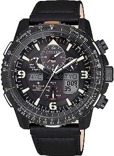 Citizen - Reloj Digital analógico para de los Hombres de Eco-Drive con Correa en Cuero JY8085-14H