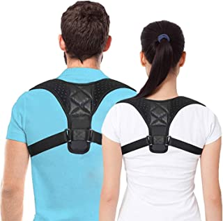Adjustable Back Brace, Posture Corrector for Women and Men, Adjustable Upper Back Straightener Brace, New Version for Clavicle Support and Providing Pain Relief for Neck, Back and Shoulder