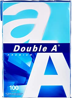 Double A - Printer Copy Paper, Size A4, GSM 80, 100 Pages Ream