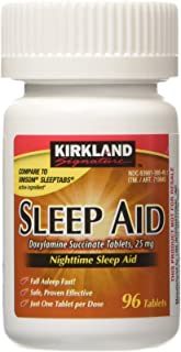 Best KIRKLAND SIGNATURE Sleep Aid Doxylamine Succinate 25 Mg X Tabs (53201812) No Flavor 96 Count Review