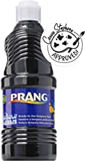PRANG Ready-to-Use Washable Tempera Paint, 16-Ounce Bottle, Black (10709)