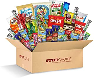Sweet Choice (40 Count) Ultimate Sampler Mixed Bars, Cookies, Chips, Candy Snacks Box for Office, Meetings, Schools,Friend...