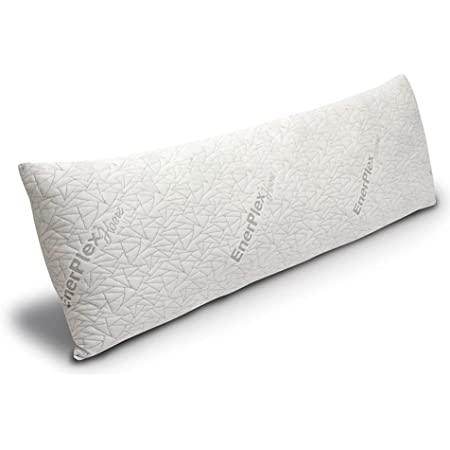 EnerPlex Body Pillow for Adults - 54 X 20 Long Cooling Pillow w/ Bamboo Cover and Extra Shredded Memory Foam for Sleeping