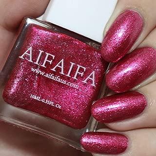 AIFAIFA Infinite Shine Nail Polish, Long-Lasting Winter Nail Polish, Dress Call, Metallic Rose Red Nail Polish, 0.4 Fl Oz
