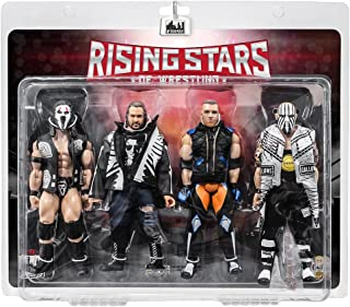 Rising Stars of Wrestling Series Action Figures Series Four Pack: Tama Tonga, Cliff Compton, Brian Myers, Doc Gallows