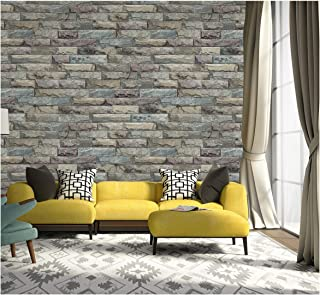 Dwind D1020 Self Adhesive Wallpaper Peel and Stick Stone Wallpaper Contact Paper for Bedroom livingroom Bedroom Wall Decor...