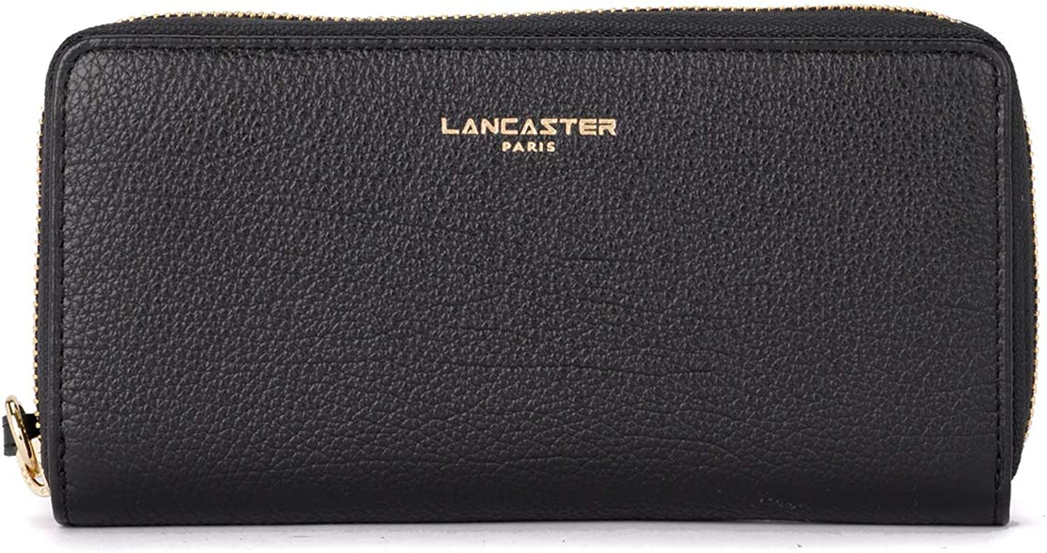 Lancaster Woman's Lancaster Dune Black Leather Wallet Black