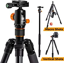 TARION Camera Tripod Monopod 61in with Panorama Ball Head Aluminium Travel Tripod for DSLR Mirrorless Cameras Support Macro Shots Counter Weight 13lb Payload Lightweight 16.9