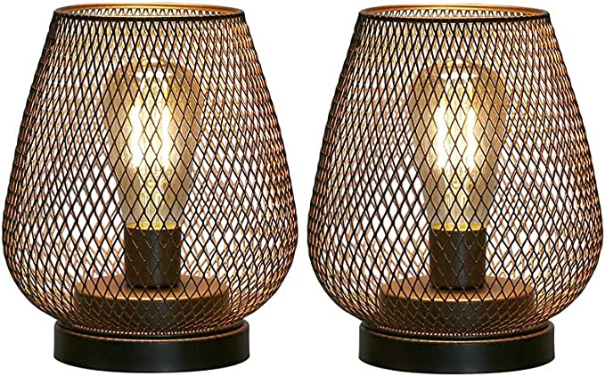 564 opinioni per JHY DESIGN Pacco da 2 LED Lampada da Tavolo luce batteria 17cm alta Lampade da