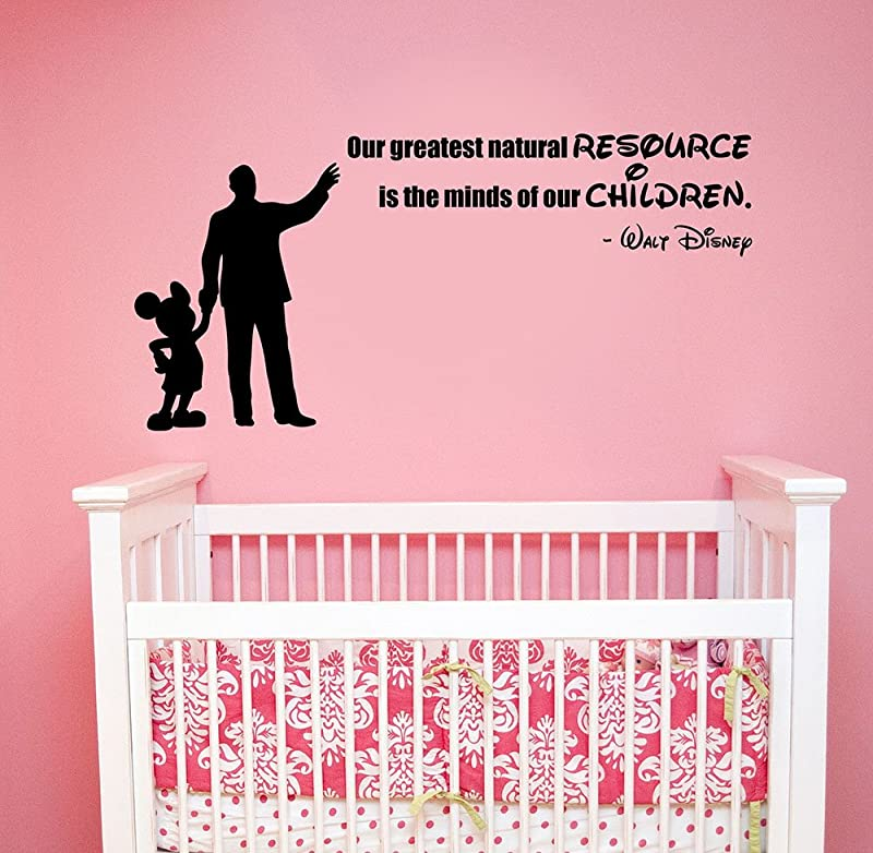 Our Greatest Natural Resource Quote Wall Sticker Vinyl Lettering Inspirational Saying Art Mickey Mouse Silhouette Decal Decorations For Home Kids Room Bedroom Decor Hq18