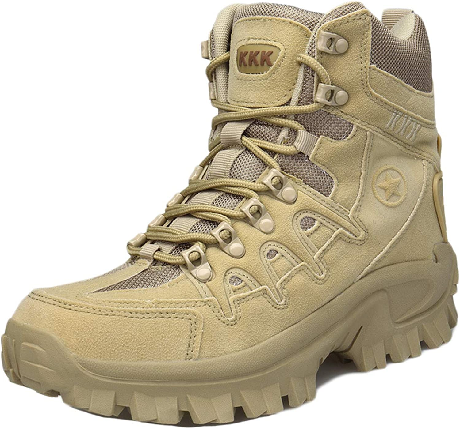 MERRYHE Men Desert Combat Boot Military Boots Tactical Boot Outdoor Sports Camping Hiking shoes High-Top Men's shoes