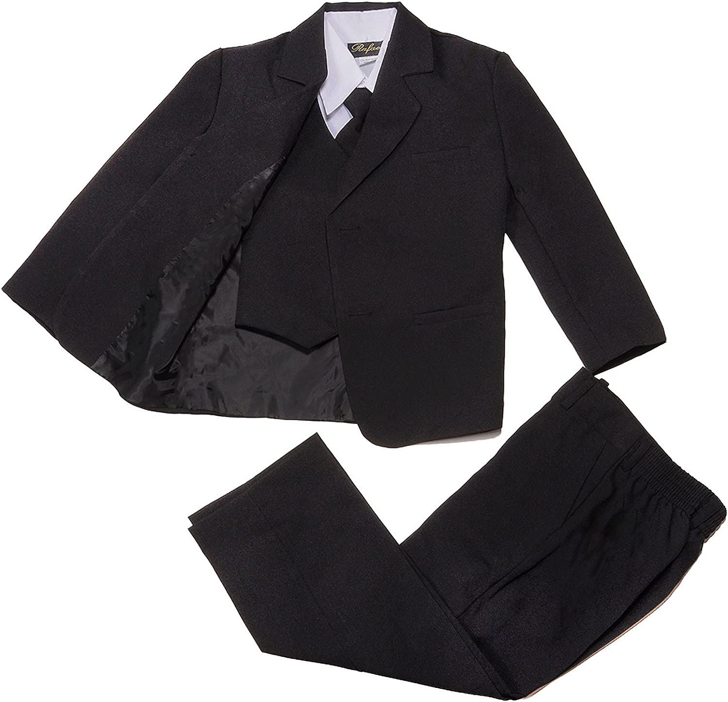Nancy Spring new work August Classic Toddler Boy Suit in Formal Black Recommendation 2T-20-Blac