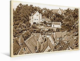 Lienzo de gran calidad 90 cm x 60 cm horizontal, paisaje viejo, cuadro sobre bastidor, imagen sobre lienzo auténtico, impresión sobre lienzo: Landsberg am Lech (CALVENDO Orte);CALVENDO Orte