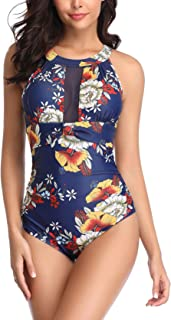 Women Swimsuit Plus Size One Piece Bathing Suit Tummy Control Slimming Swimwear Cutout Mesh Swimsuit