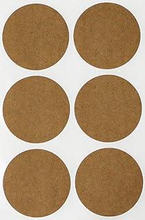 Royal Green Round Stickers Sheets 50mm - Kraft Sticker dots 2