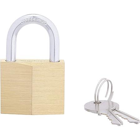 Amazon Basics 1-9/16-inch Keyed Padlock, Brass, 2-Pack