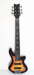 $169 » Fretless 6 String Electric Bass Bolt_On Maple Neck,Poplar Body Sunburst