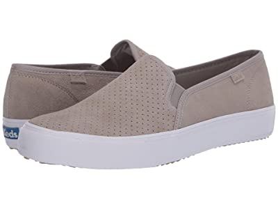 Keds Double Decker Perf Suede (Gray) Women