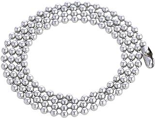 DonDon - Collana da uomo in acciaio inox, catena a sfera, 60 cm
