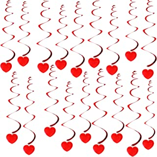 KatchOn 18 Hanging Heart Swirls - Valentines Day Decorations - Valentines Day Hanging Decorations for Ceiling - Great for Anniversary , Wedding, Birthday, Bridal Shower, Bachelorette Party Supplies