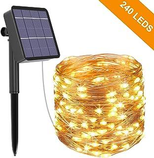 Guirnalda Luces Exterior Solar, Kolpop Cadena de Luces 26