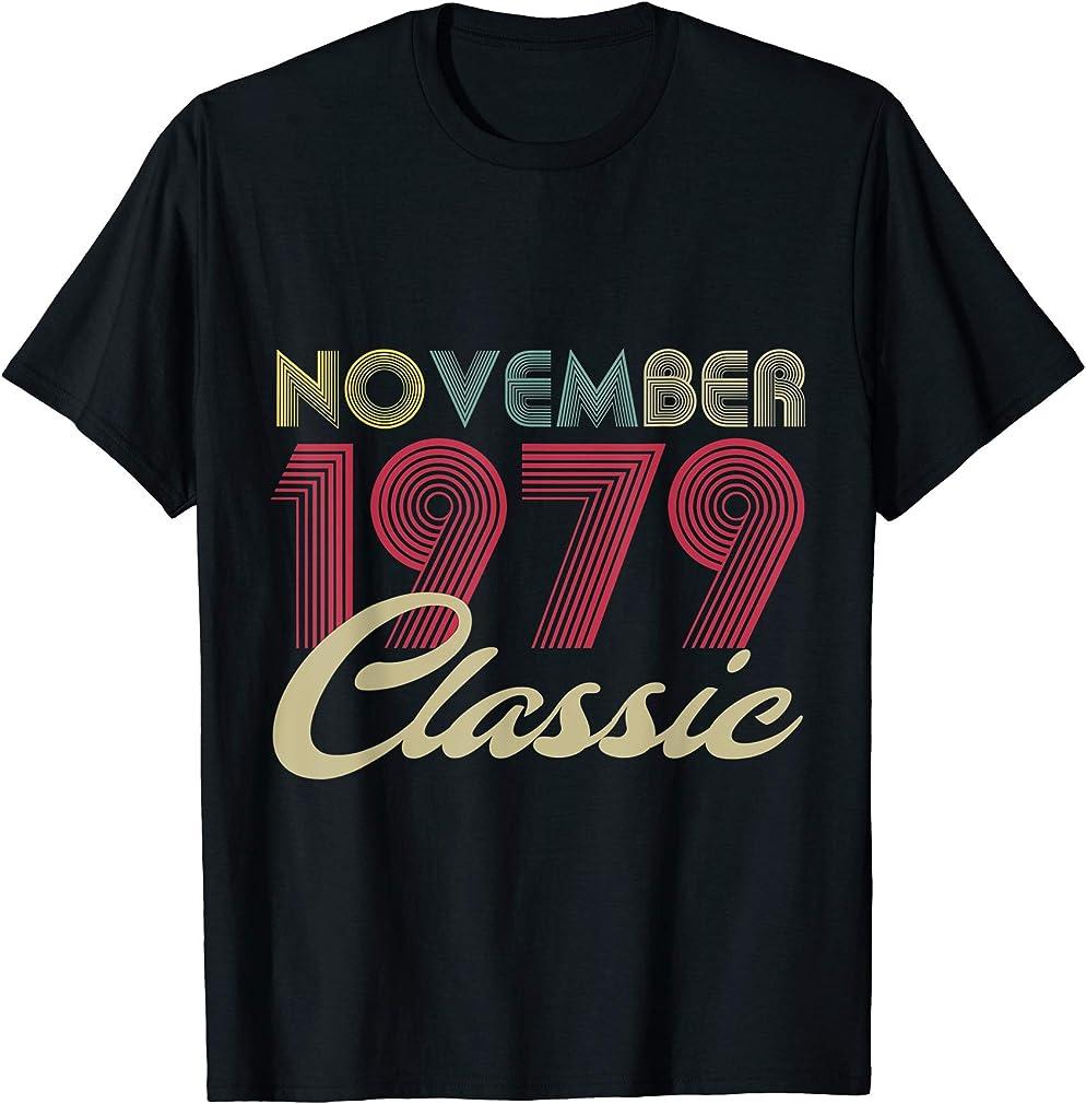 Classic November 1979 Bday Men Women Gifts 41st Birthday T-shirt