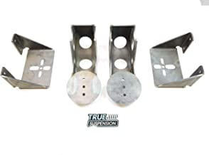 TS - Rear Universal Air Ride Suspension Weld-on Axle Brackets Drop Low for 4 link Set-ups