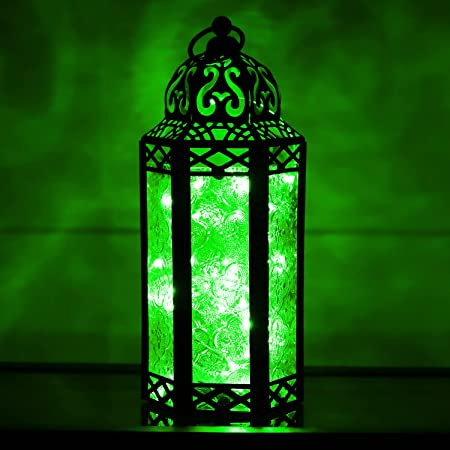 """Details about  / Decorative Moroccan Lanterns Battery Powered with 15 Led 2pc 14"""" New Style"""