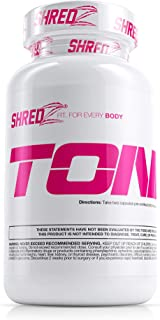 SHREDZ Toner Supplement Pills for Women, Lean Muscle, No Bloating, Boosts Endurance and Enhances Recovery (30 Day Supply)