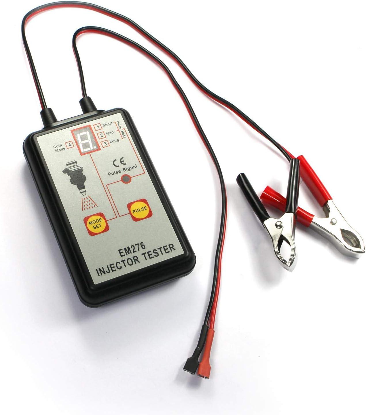 allsun em276 Auto Fuel Injector Tester 4 Modes Pulse Automot Max 64% Genuine Free Shipping OFF 12V