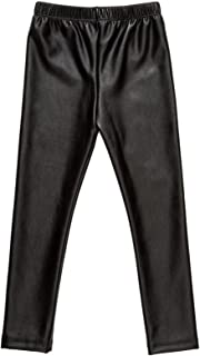 Baby Girls Pants Faux Leather Leggings for Toddlers