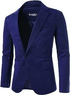 uxcell Men's Notched Lapel Button Slim Fit Casual Lightweight Sport Coats Blazer
