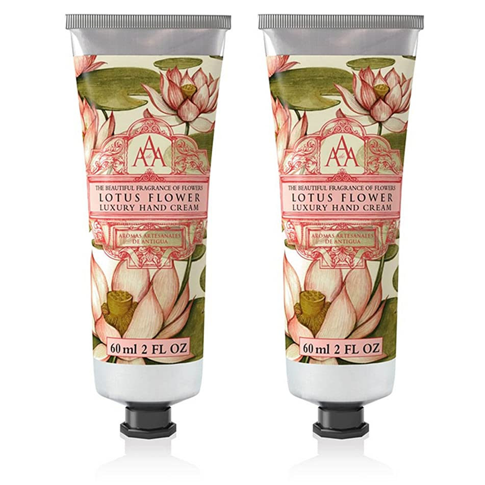 Somerset Toiletry Co. AAA Floral Hand Cream 2-Piece Set - Lotus Flower
