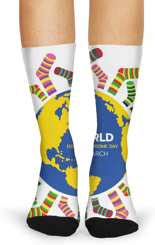 Women's Fun Casual Crew Tube Socks Fashion Crazy Lady Dress Socks