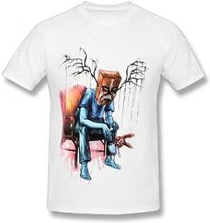 T-Shirt Mens Boys Outside Sport Fashion Round Neck Monster Pattern Short Sleeve Tee Shirt