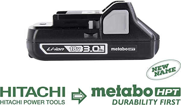 Metabo HPT 339782M 18V Battery Lithium Ion Slide Style 3 0 Ah Compact And Lightweight Design Also Works With Hitachi Power Tools 18V Slide Style Cordless Tools