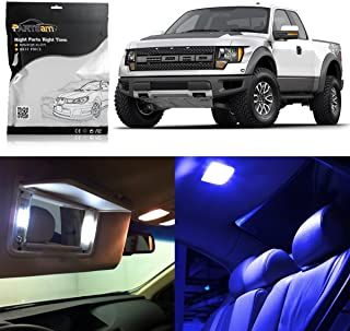 Partsam LED Interior Light Package Lighting Bulbs Kit fit Replacement for Ford F-150 2014 2013 2012 2011 2004-2010 -Blue 7Pcs