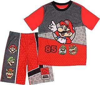 AME Super Mario Boys Summer Pajamas with Luigi Bowser Red