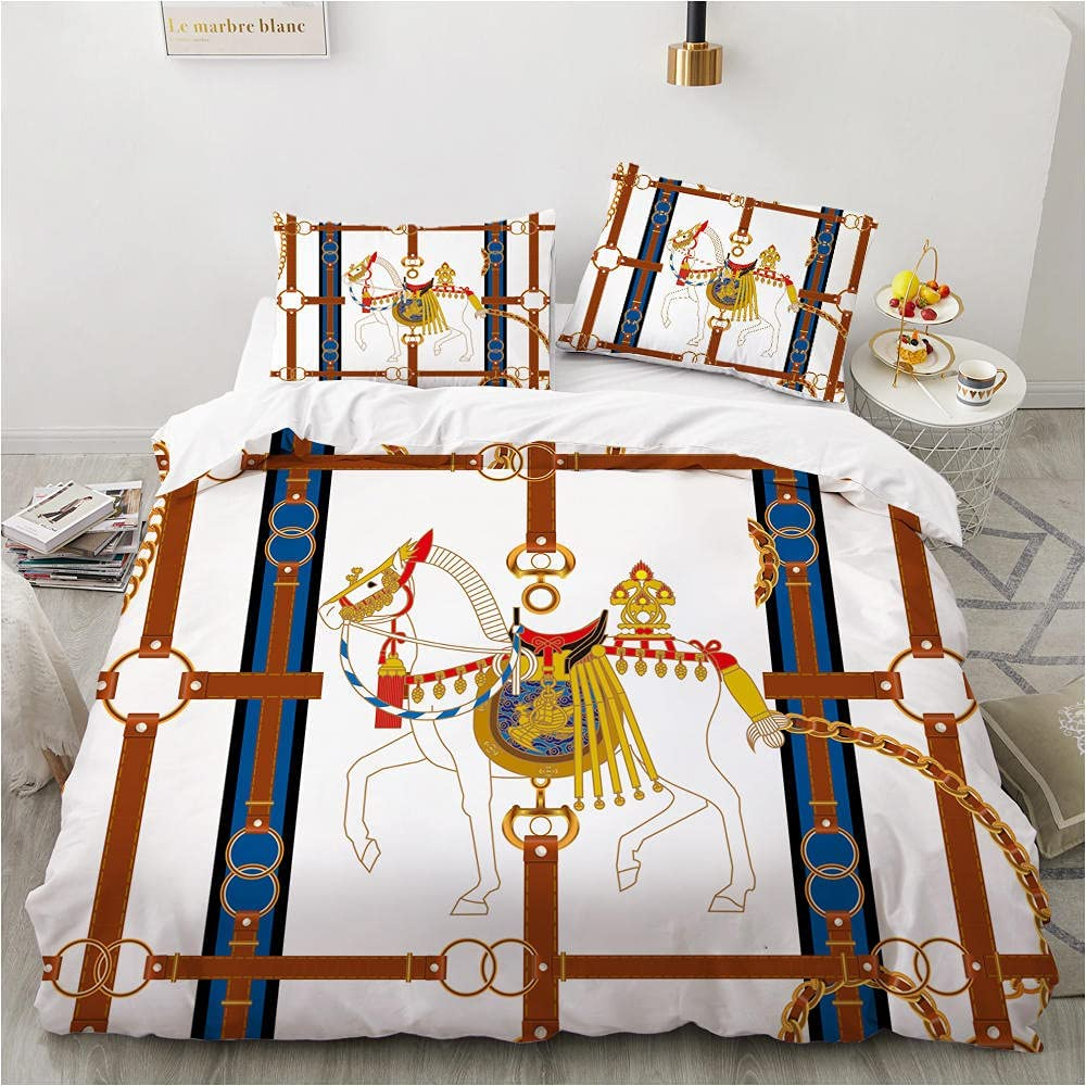 Duvet Cover King Max 83% OFF Horse Soft Microfiber Bedding C Manufacturer direct delivery Luxurious