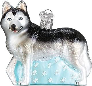 Old World Christmas Glass Blown Ornament Siberian Husky