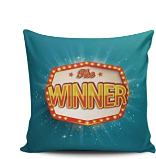WEINIYA Bedroom Custom Decor Winners of Poker Roulette and Lottery Throw Pillow Cover Elegant Design Double Sides Printed Patterning Square 16x16 Inches
