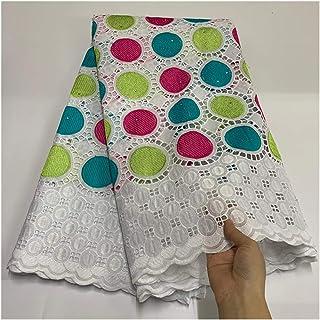 QMDSH Tissu en Coton brodé en Tissu en Dentelle (Color : Light Green)