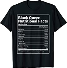 Black Queen Nutrition Facts Black History Month Pride Shirt
