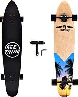seething 42 Inch Longboard Skateboard Complete Cruiser,The Original Artisan Maple Skateboard Cruiser for Cruising, Carving, Free-Style and Downhill