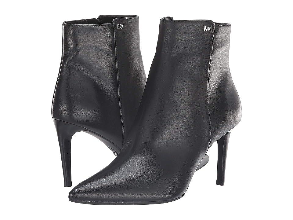MICHAEL Michael Kors Dorothy Flex Mid Bootie (Black Nappa/Stacked Heel) Women