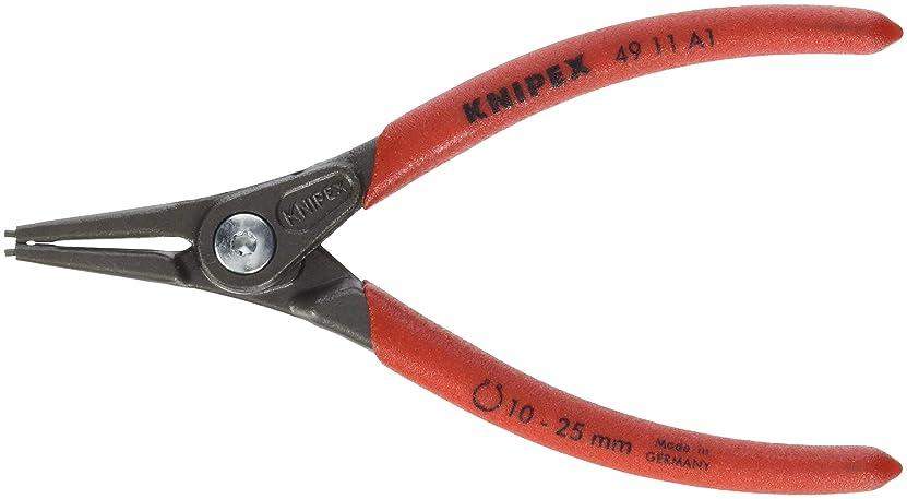 露骨なフィッティング黒くするクニペックス KNIPEX 4911-A1 軸用精密スナップリングプライヤー 直(SB) 4911-A1