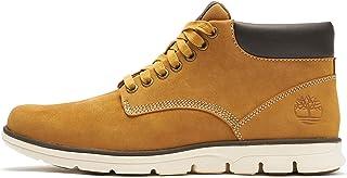 Timberland Bradstreet Leather Sensorflex, Botas Chukka para Hombre, Amarillo Wheat Nubuck, 43 EU