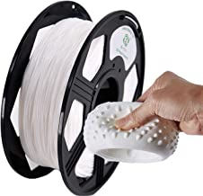 YOYI TPU 3D Printer Filament, Flexible Filament 1.75mm,100% Virgin Raw Material,0.8KG Spool,Dimensional Accuracy +/- 0.03 mm (White)