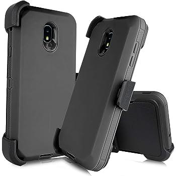 WIWJ Kompatibel mit Samsung Galaxy J7 2018 H/ülle Rei/ßverschluss Lederh/ülle Wallet Handyh/ülle Klapph/ülle Ultra Slim Flip Case Stand Schutzh/ülle 360 Grad Bumper Tasche-Gold